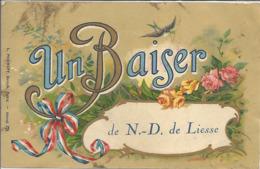CPA Un Baiser De Notre-Dame De Liesse - Francia
