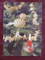 "Czechoslovakia 1992 Postcard ""Greetings Bird Handicraft Candle"" Prague To Prague - Red Cross - Covers & Documents"
