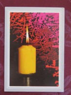 "Czechoslovakia 1992 Postcard ""greetings Candle"" To Prague - Arms - Jan Opletal - Students Day - Czechoslovakia"