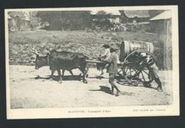 Mayotte -    Transport D'eau  - Edit. Société Des Comores    - Obe 3494 - Komoren