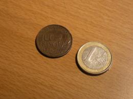 PIECE FRANCE 100 FRANCS 1956. RARE A NETTOYER. - N. 100 Francs