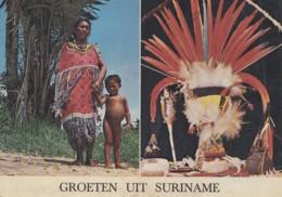 Amérique - Suriname - Groeten Uit Suriname - Parure Chef - Plumes - Amer-Indian Dress And Head-attire - Suriname