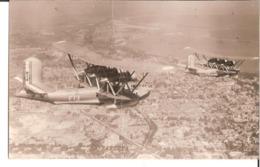 """Hydravions Au-dessus De Dakar...Carte Photo...Bréguet """"Bizerte' Au Premier Plan. Aviation, Marine, Aéronavale... - 1939-1945: 2ème Guerre"""