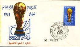 MAROC - COUPE DU MONDE DE FOOT 1974 - PREMIER JOUR D'EMISSION. - Maroc (1956-...)