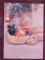 "Czechoslovakia 1992 Postcard ""greetings Apples"" Prague To Prague - Flowers - Covers & Documents"