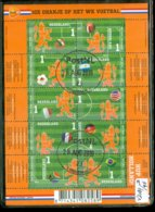 NEDERLAND * BLOK NVPH V 3187b - 3196b * FUSSBALL DEUTSCHLAND 1974 * BLOCK * POSTFRIS GESTEMPELD  *  Wk Voetbal - Fußball-Weltmeisterschaft