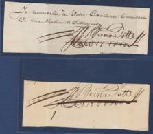 AUTOGRAPHE SUR FRAGMENT: JEAN-BAPTISTE BERNADOTTE MARECHAL D'EMPIRE SOUVERAIN DE SUEDE EN 1818 - Autógrafos