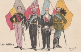 CPA Patriotique Militaire Militaria Représentant Des Pays Alliés  Illustrateur FERCHAM (2 ,scans) - Patrióticos