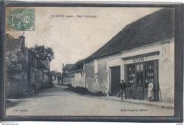 Carte Poste 60. Fleury  Epicerie Charcuterie Guyard  Rue Principale  Animée  Très Beau Plan - Other Municipalities
