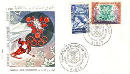 ALGERIE - JEUX OLYMPIQUE D'HIVERS - GRENOBLE 1968 - PREMIER JOUR . - Algérie (1962-...)