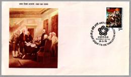 BICENTENARIO DE LA INDEPENDECIA DE ESTADOS UNIDOS - Bicentennial Independence United States. SPD/FDC Bombay 1976 - Unabhängigkeit USA