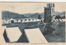 OPERA BALILLA - VARESE CAMPEGGIO PROVINCIALE A PORTOVALTRAVAGLIA - Varese