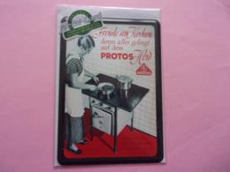 Nostalgique-art  Collection Berlin Cuisinière PROTOS - Herd Kocher Cooker Cocinera Carte Métal - Plaques En Tôle (après 1960)