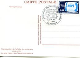 France - 1984-yt 2317 (CNET)sur Carte Centenaire Du Téléphone Lorrain - Brieven En Documenten