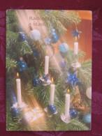 """Czech Rep. 2000 Postcard """"greetings Candles"""" Brno To Prague - Christmas - Tchéquie"""