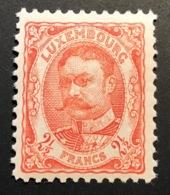 1906 2 1/2 Fr Michel 82 = 90€, Mint * VF  (Luxembourg Yv 84 Neuf TB Luxemburg - 1906 Guglielmo IV