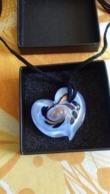 Coeur Bleu En Verre De Murano - Pendants