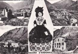 Cpsm 10x15 . VALLS D'ANDORRA  ANDORRE LA VIEILLE Record D' Andorra . Multi-vues Dont POUPEE Folklorique - Andorra