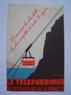 CARTE 1935 : TELEPHERIQUE De VEYRIER DU LAC D' ANNECY - Tourism Brochures