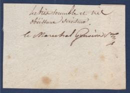 AUTOGRAPHE SUR FRAGMENT: LAURENT GOUVION-SAINT-CYR MARECHAL D'EMPIRE ... MINISTRE DE LA GUERRE DE LOUISXVIII - Autogramme & Autographen