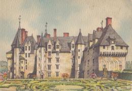 Aquarelle De BARDAY ## LANGEAIS: Le Château ## - CPM Neuve (150 X105). - Langeais