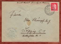 Ukraine, Brief, Hitler Mit Aufdruck, Durch Deutsche Dienstpost, Brest-Litowsk Nach Leipzig 1943 (79665) - Ocupación 1938 – 45
