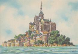 Aquarelle De BARDAY ## Le MONT SAINT-MICHEL ## - CPM écrite (150 X105). - Le Mont Saint Michel
