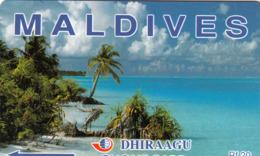 MALDIVES - Coconut Palms,CN:4MLDD, Used - Maldive