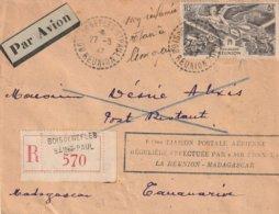 Aérogramme -   1ère Liaison Postale Aéerienne Régulière Effectuée Par Air France La Réunion-Madagascar - Avions