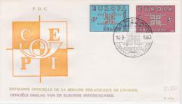 Belgium 1963 FDC Europa CEPT (SKO16-47) - Europa-CEPT