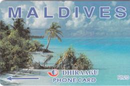 MALDIVES - Coconut Palms,CN:89MLDA, Used - Maldive