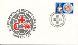 Romania RED CROSS Cover Bukarest 1977 - Red Cross