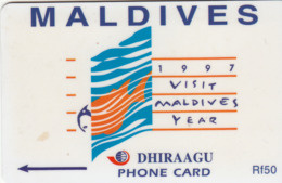 MALDIVES - Visit Maldives 1997,CN:164MLDD, Used - Maldiven