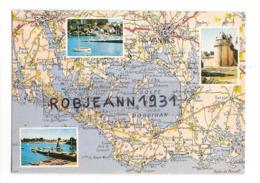 Carte Geographique Du Golfe Du Morbihan (56) La Tour Du Connetable A Vannes - L'iles Aux Moines - Port Navalo - Frankreich