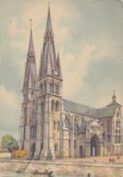 Aquarelle De BARDAY ## CHÂLONS-sur-MARNE: Notre-Dame-en-Vaux ## - CPM Neuve (150 X105). - Châlons-sur-Marne