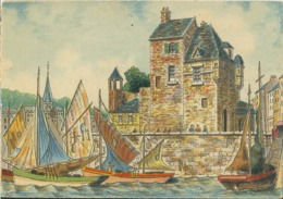 Aquarelle De BARDAY ## HONFLEUR: La Lieutenance ## - CPM Neuve (150 X105). - Honfleur