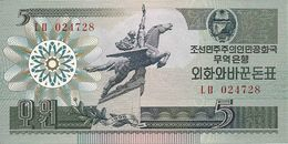 COREE DU NORD 5 WON 1988 UNC P 28 - Korea, North