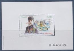 = Bloc Neuf Georges Guynemer 5.10€ Type PA81 Numéroté Tirage Réservé Aux Réservataires Sous Emballage Scellé - Poste Aérienne