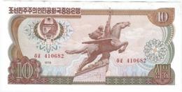 Corea Del Norte - North Korea 10 Won 1978 Pk 20 C Sello Rojo En Reverso A Derecha Sin Numeración Ref 3829-2 - Corea Del Norte
