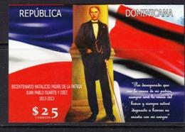 2013 2014 Dominican Republic Dominicana Duarte Flags  Souvenir Sheet  MNH - Dominikanische Rep.
