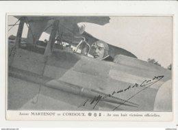 ANDRE MARTENOT DE CORDOUX AS AUX HUIT VICTOIRE OFFICIELLES CPA BON ETAT - Aviateurs