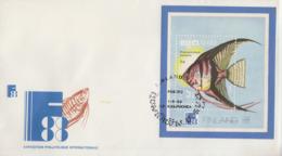 Enveloppe  FDC  1er  Jour   KAMPUCHEA     Bloc  Feuillet    Exposition  Philatélique  FINLAND  1988 - Kampuchea