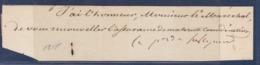 AUTOGRAPHE SUR FRAGMENT: CHARLES MAURICE DE TALLEYRAND-PERIGORD MINISTRE DE NAPOLEON, LOUIS XVIII, LOUIS PHILIPPE - Handtekening