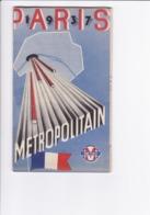 Plan Du Métropolitain De Paris-Exposition  1937(bon état) - Otros