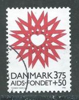 Danemark YT N°1143 Lutte Contre Le SIDA Oblitéré ° - Usado