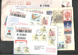 China 4 Cover - Lettre - Brief Registered - 1949 - ... People's Republic