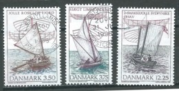 Danemark YT N°1130/1132 Yoles Danoises En Bois Oblitéré ° - Usado