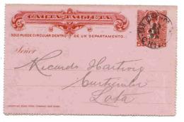 Chili Chile Entier Carte Lettre 1898  Lettre Cover Brief Carta Entero - Cile