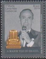 BRAZIL , 2019, MNH, MUSIC, SINGERS, THE GREATEST VOICE OF BRAZIL, NELSON GONCALVES, 1v - Musique