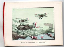 40 CAZAUX AVION AVIONS AVIATION GUYENNE MORANE ILLUSTRATEUR  CARTE DE VOEUX BASE AERIENNE - Documents Historiques